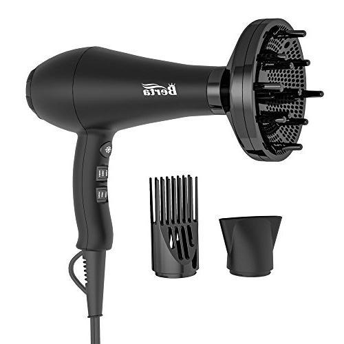 BERTA Professional Hair Dryer 1875W Negative Ions Hair Blow