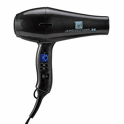 Be Professional Digital Blow Dryer Long Nozzle, Pearl Black