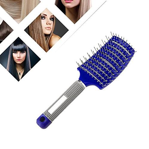 Blue Hair Brush Best at Detangling Thick Hair Vented For Fas