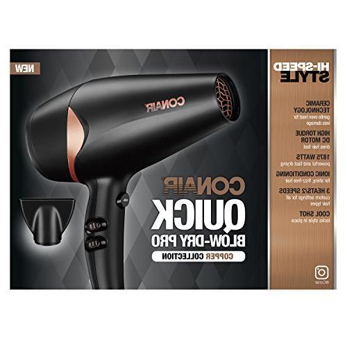 Conair Quick Styler/Hair Dryer, Black/Copper