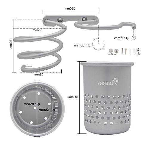 Hair Dryer Holder,Hair Dryer Holder,Hair Dryer Organizer Shelf Rack with Cup,Bathroom Washroom Accessories Storage