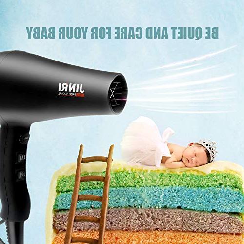 Hair Hair Dryers 1875W Professional Ions Blow Dryer Heat 3 Heat AC Moto -