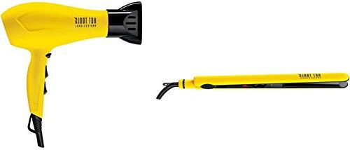 """Hot Tools CERAMIC IONIC Blow Dryer and 1"""" Hair Flat Iron wit"""
