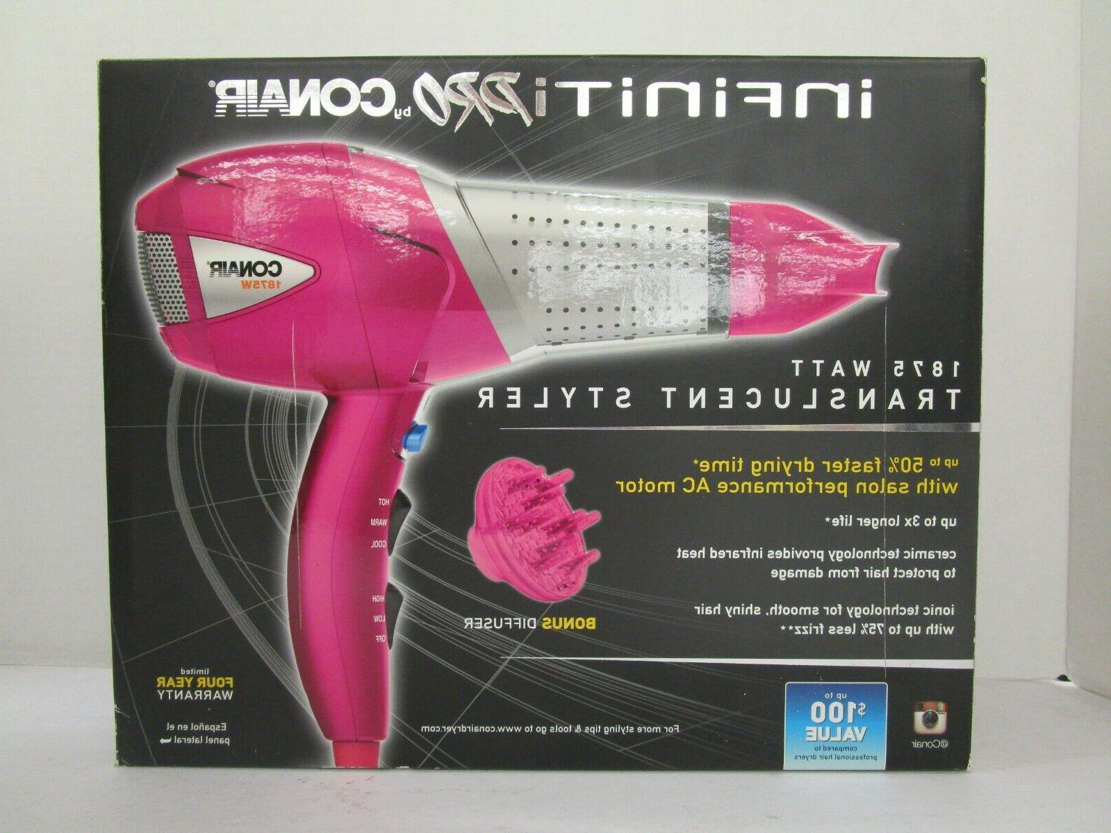 Infiniti Pro by Conair 1875 Watt Translucent Styler/Hair Dry