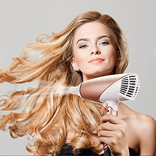 JINRI Travel Dryer Dual Dryer Dc Handle Negative Hair Dryer With Shot Button