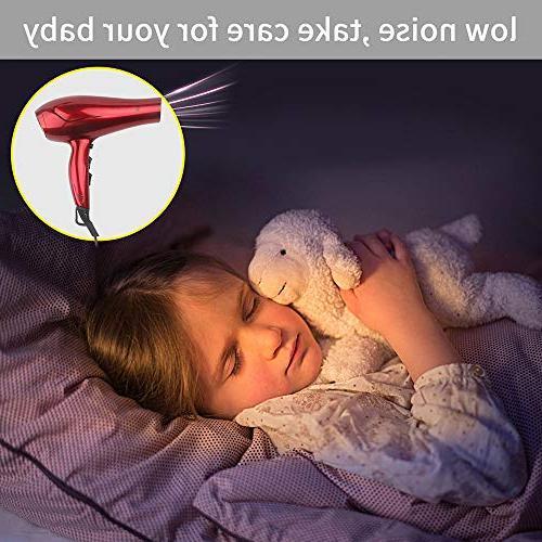 JINRI Hair Dryers Blow Dryer Powerful Tourmaline Hairdryers Light Weight salon blowdryers Ring -