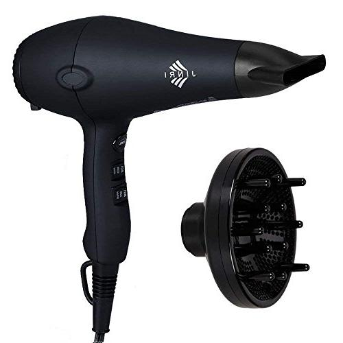 JINRI Professional Hair Dryer 1875W Low Noise  Light Weight