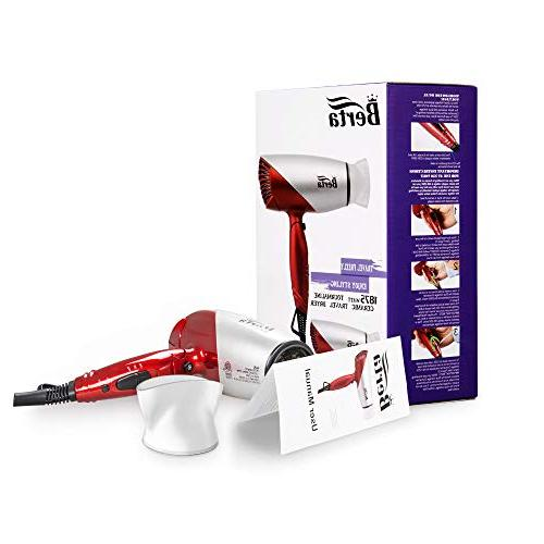 JINRI Dryer Blow Dryer Foldable Lightweight Ionic Folding Hair Dryer