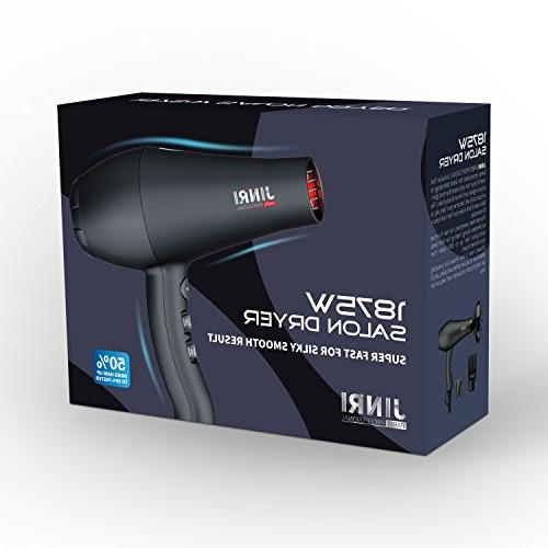 Jinri Dryer Professional Salon 1875W Negative Ionic Blow Dryer Straightenning and 2