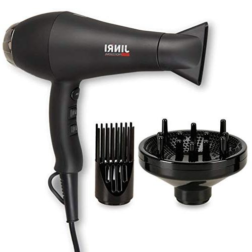 Jinri Professional Hair Dryer with Concentrator Nozzle, Diff