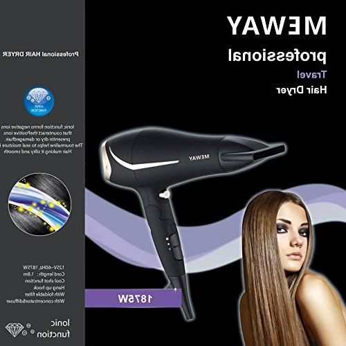 MEWAY Folding Professional Constant Fast Ionic Hair with Dryer