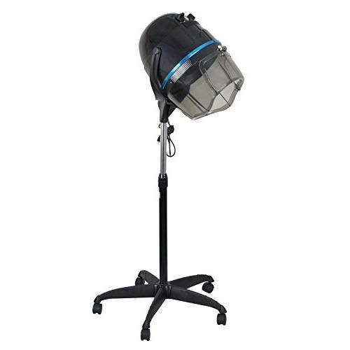 Professional 1300W Adjustable Hooded Floor Hair Bonnet Dryer