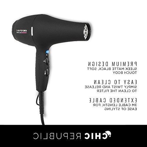 Professional Hair - Ceramic Blow Dryer - Fast Travel Diffuser Nozzles - 1875W Premium
