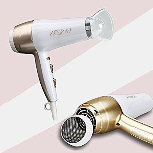 VASLON Noise Negative Blow Dryer with Nozzle 3 Heat shot button White
