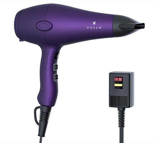 WazorHair Dryer Ceramic Negative With Speed and 3 Settings Shot Button