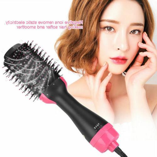 Anion Infrared Comb Volumizer Blow Curler Straightener USA