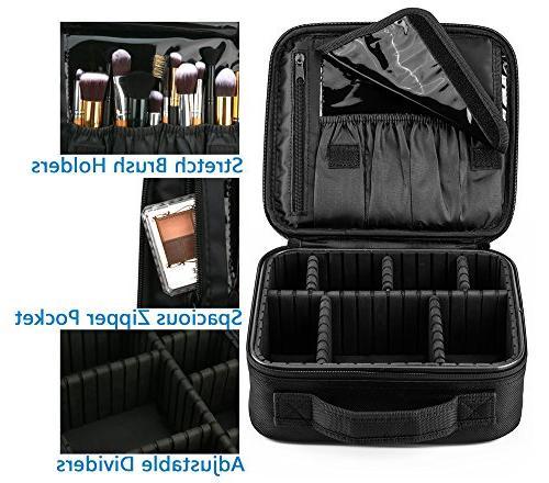 "Travel Makeup Organizer Artist Storage Adjustable for Makeup Toiletry Digital 10"""