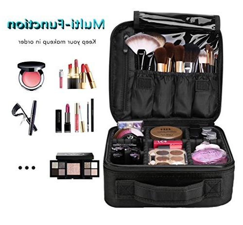 Travel Makeup Train Organizer Portable Storage Makeup Brushes Toiletry Digital Accessories