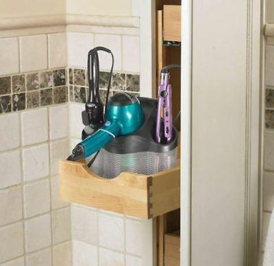 Bathroom Dryer Iron Holder Hair Care Stand Organizer Tool Storage