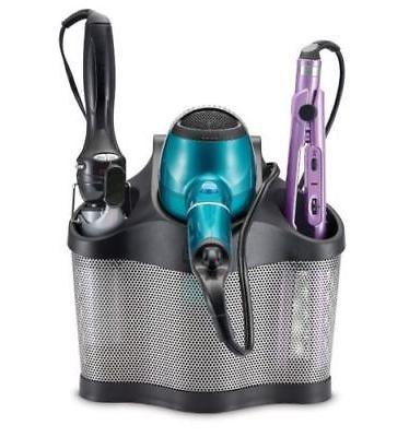 bathroom blow dryer curling iron holder hair