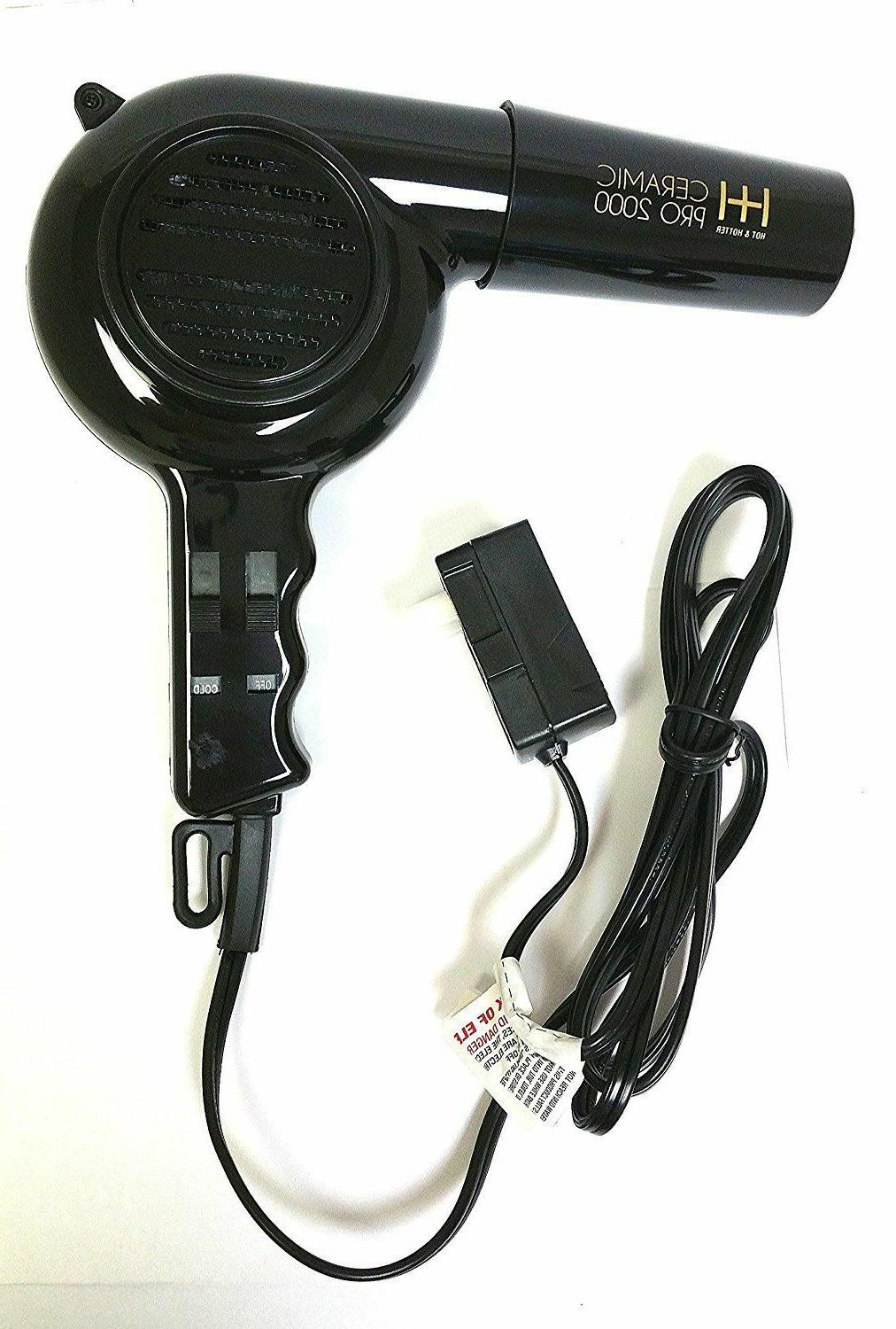 BLOW DRYER CERAMIC PRO 2000 HOTTER 2 ATTACHMENTS,