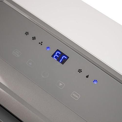 BLACK BTU Portable Conditioner Unit + 11000 BTU Heater, Remote, LED Caster Wheels,