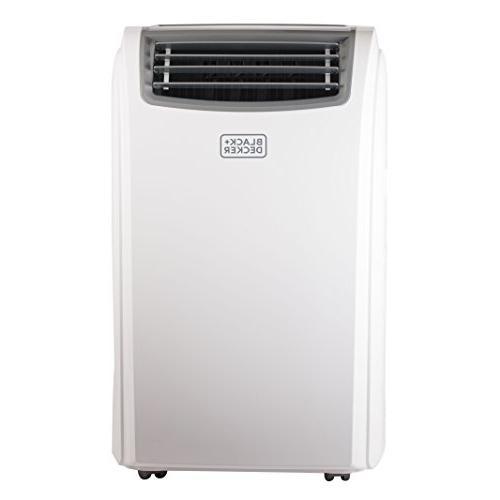 BLACK BTU Air Unit Heater, LED Window Kit, Caster Wheels, White
