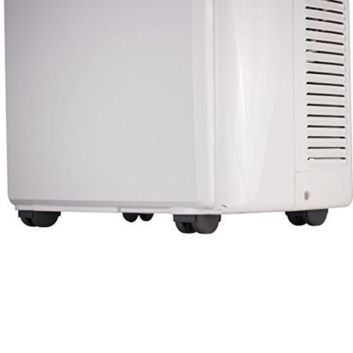 BTU Air Conditioner Unit Heater, Display, Window Vent Kit, 4 Caster Wheels,