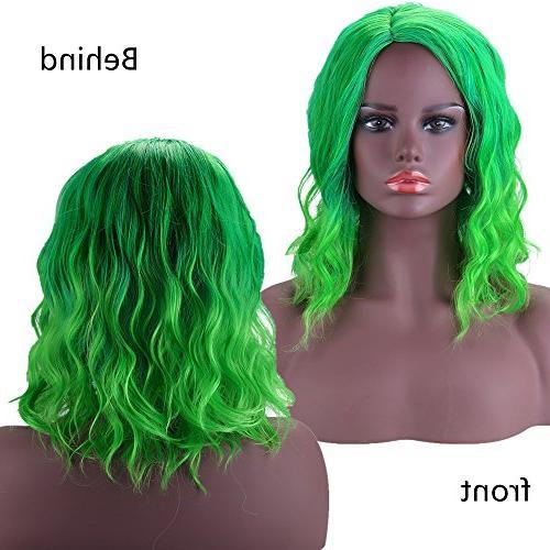 btoop green wigs cosplay wig