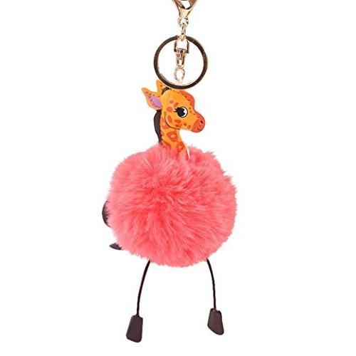 cartoon giraffe keychain