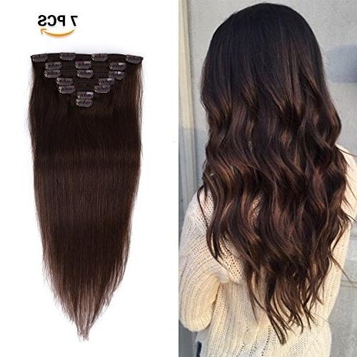 clip extensions real human hair