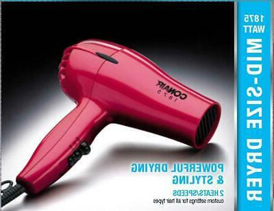 COMPACT HAIR DRYER Powerful 2 Heat Blower Conair Women Styler