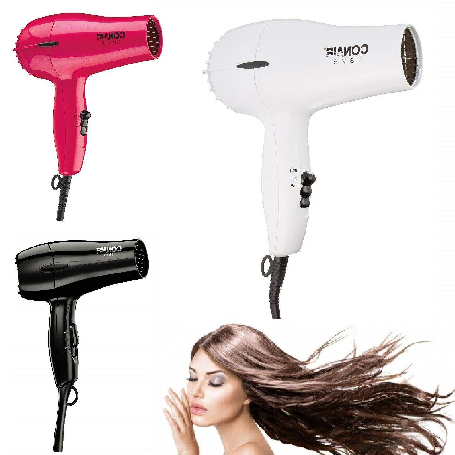 COMPACT HAIR DRYER 1875W Powerful 2 Heat Speed Blower Conair