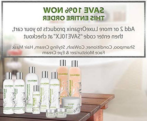 Moroccan Shampoo and and Damaged, Dry, or Frizzy Thickening Fine or Thin Safe for and Treated Hair