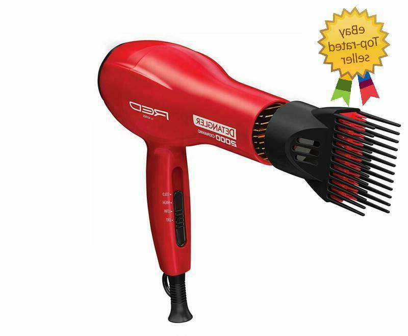 Detangler Dryer Blow Dryer With Comb Attachment Straighten W