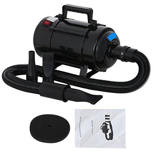 Nova Microdermabrasion Dog Grooming Force Blower Heater Adjustable w/3 Filters