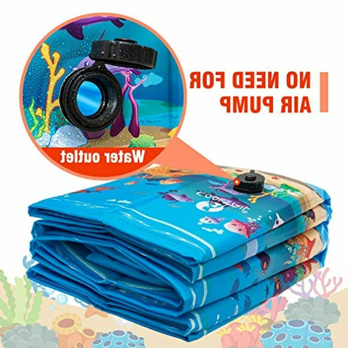 KOOLTAIL Foldable Swimming Pool Extra Large Pet Summ