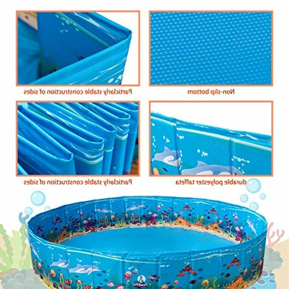 KOOLTAIL Foldable Swimming Pool - Extra Pet Bathtub Summ