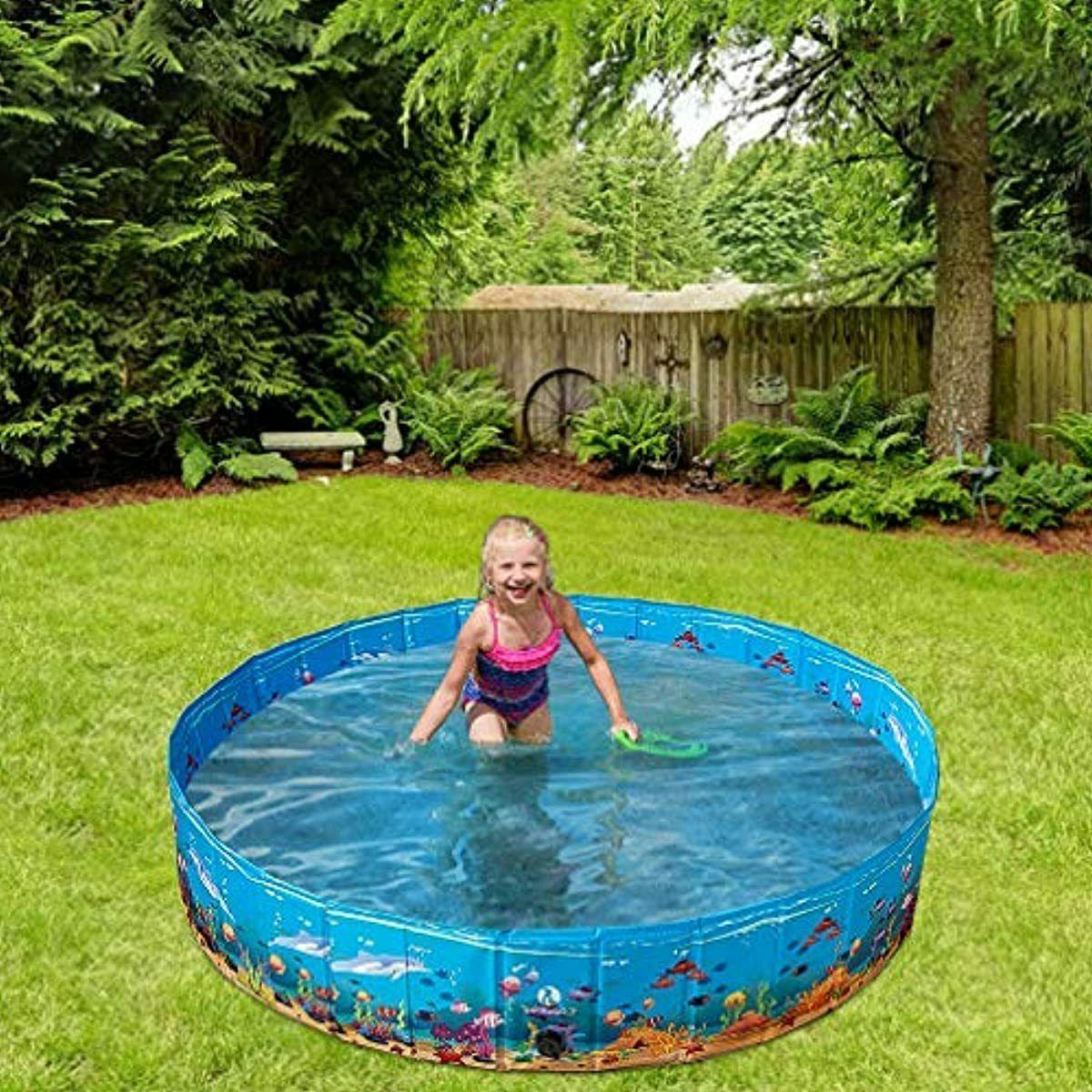 KOOLTAIL Swimming Pool - Extra Large Pet Bathtub - Summ