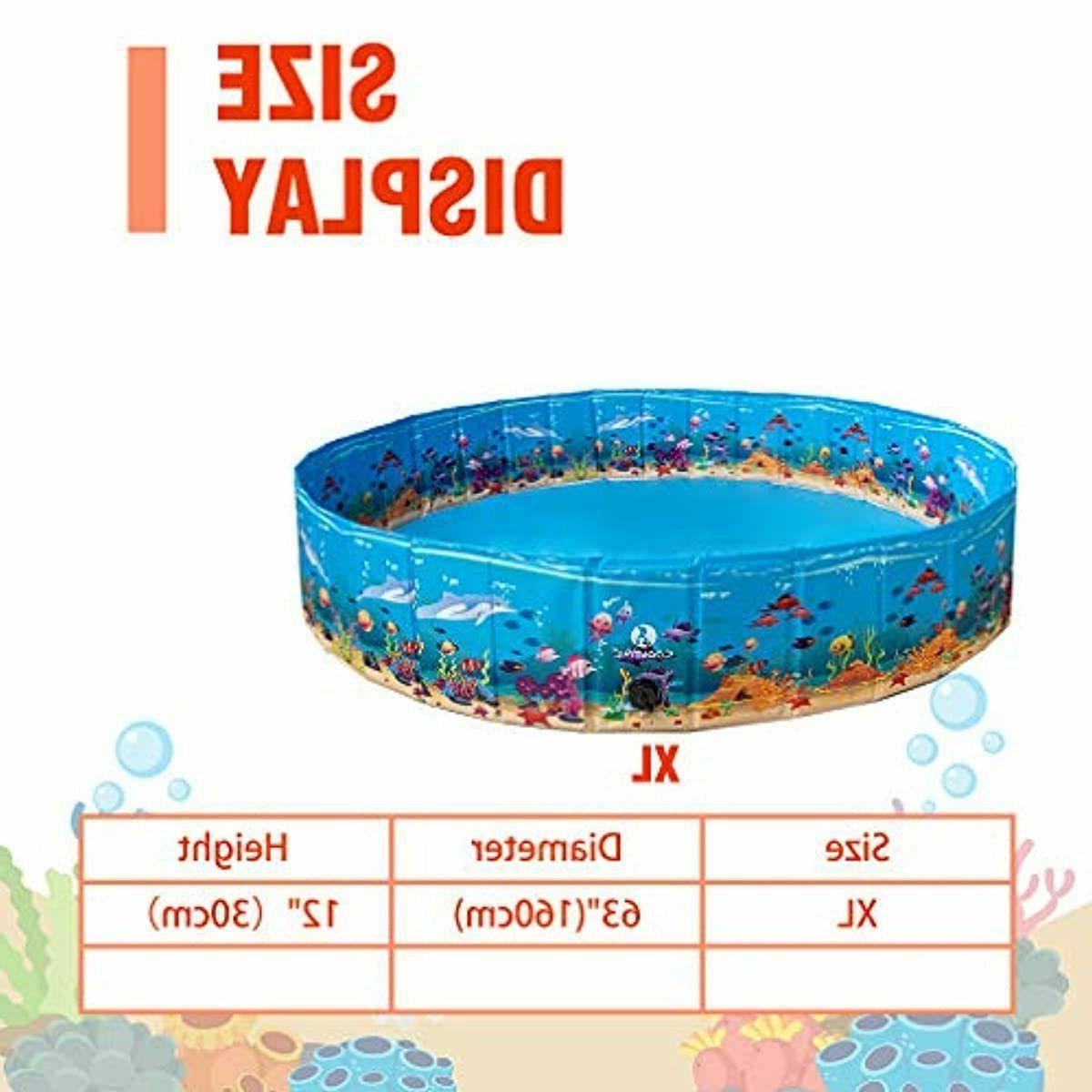 KOOLTAIL Foldable Dog Pool - Extra Large Pet Bathtub Summ