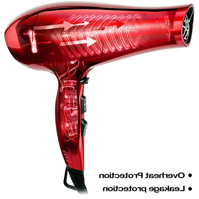 <font><b>Jinri</b></font> 1875W Tourmaline <font><b>Dryer</b></font> <font><b>Blow</b></font> With Concentrator Lightweight Noise Motor Fast