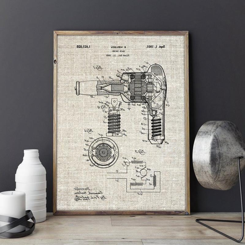 <font><b>Blow</b></font> Hair Stylist Gift Bathroom Wall Art Painting Home Decor Blueprint Poster Fashion