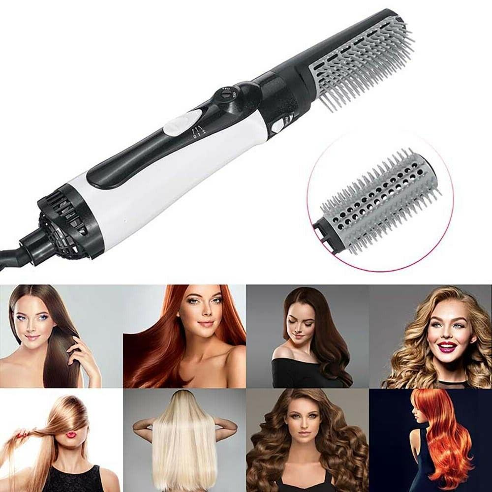 Hair Iron Curling Hot Air Curler Brush Ionic Kit