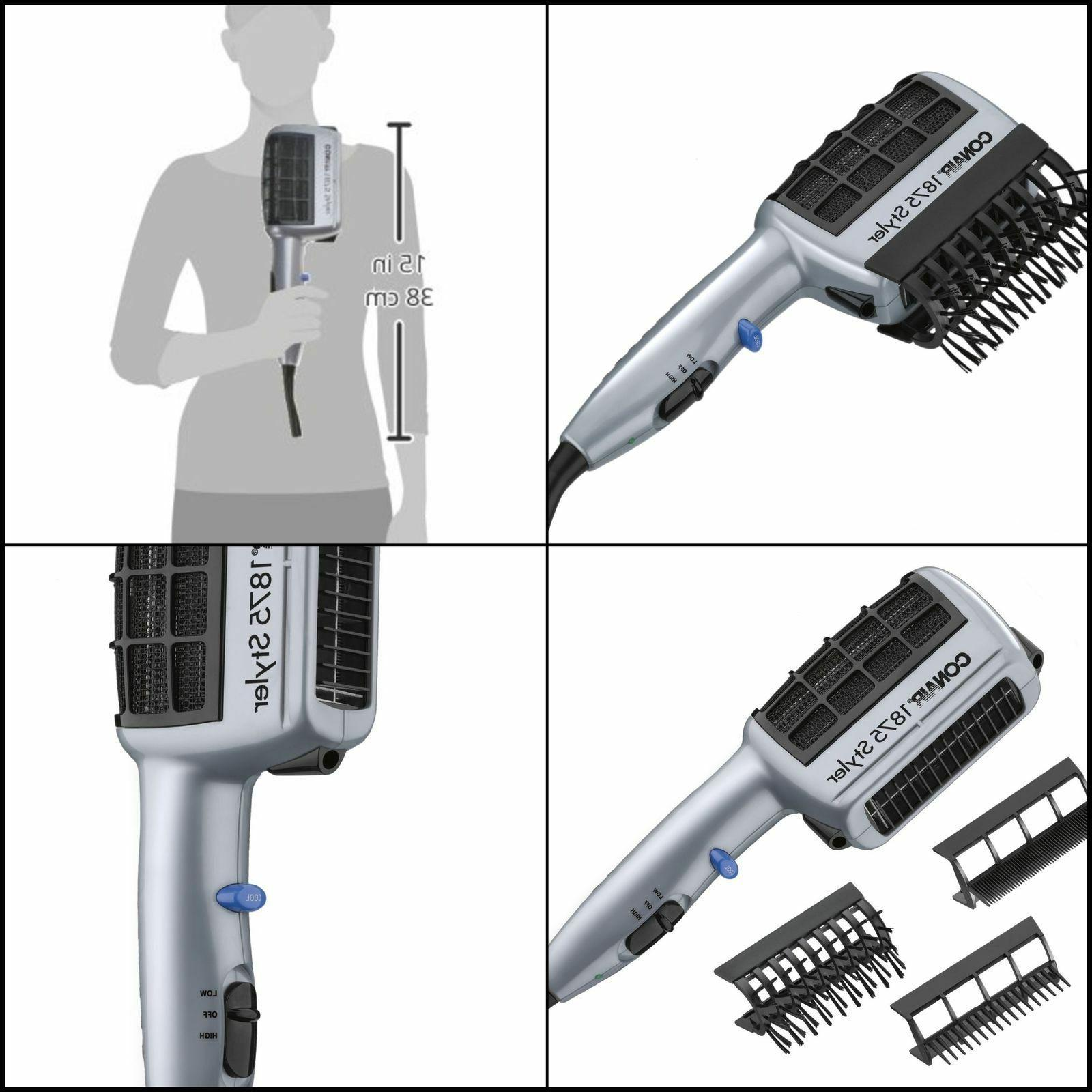 Hair Blow Styler Straight Curl Comb Brush with Lonic Watt