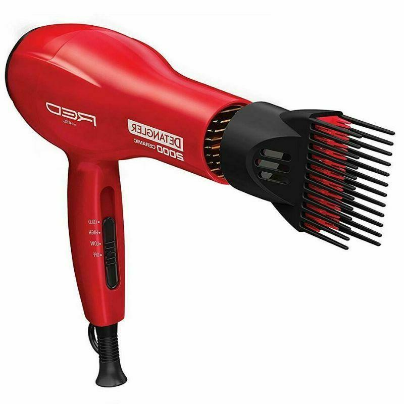 Hair Dryer with Comb Red Drying
