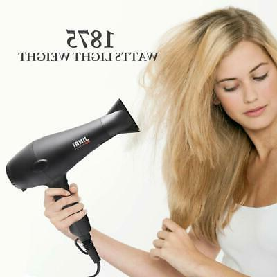 Hair Dryer,JINRI 1875W for Ionic Black