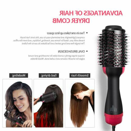 Hair Dryer Brush Straighten Curl Step Hair Dryers