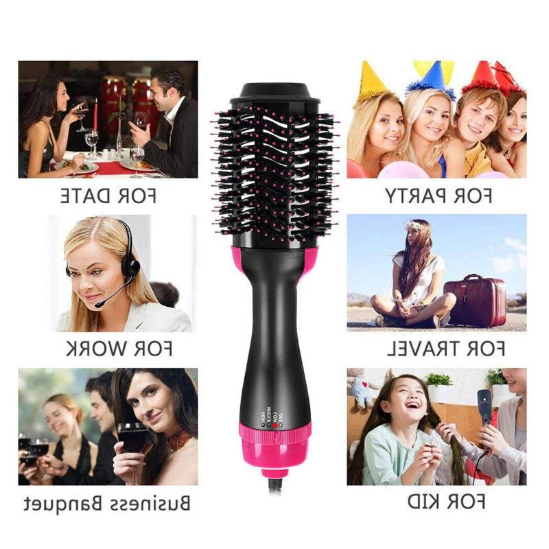 Hair Dryer Step Comb Straightening Styling 1000W