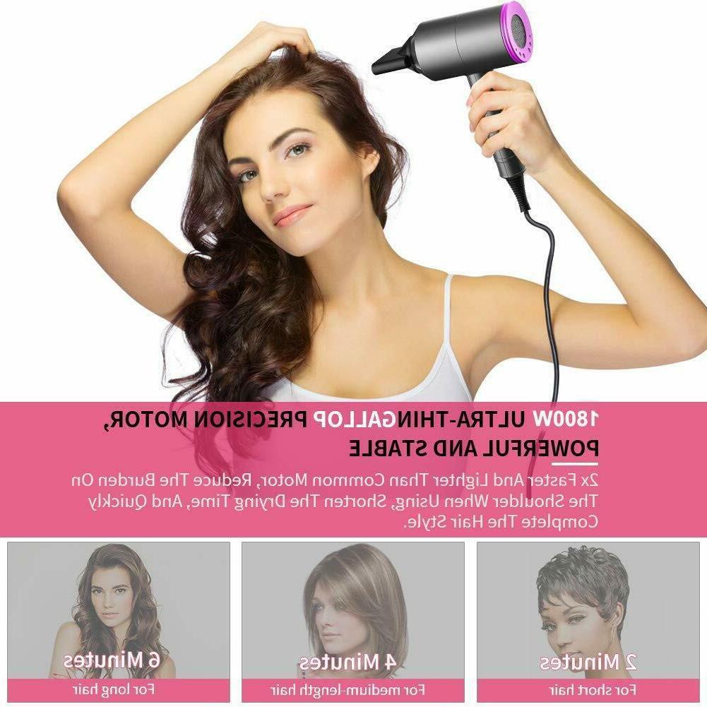 HAIR DRYER Professional 1800W Negative Ionic Blow Dryer