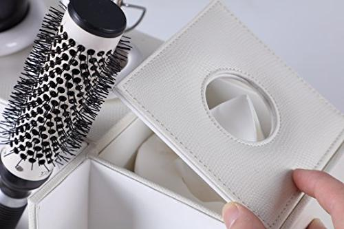 Hair Dryer Love Nest Multi-functional Blow Dryer Holder PU White Leather Jewelry Box Storage Tissue Box Holder Bathroom Hair
